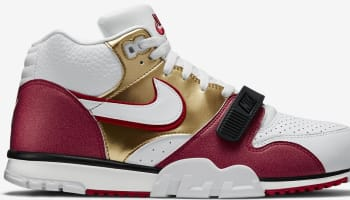 Nike Air Trainer 1 Mid Premium QS White/White-Club Gold-Pebble Red