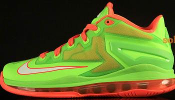 Nike LeBron 11 Low GS Electric Green/White-Total Orange
