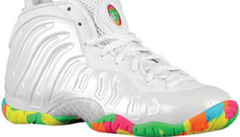 Nike Little Posite One GS White/Pink Foil-Cascade Blue-Poison Green