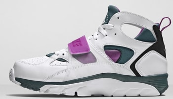 Nike Air Trainer Huarache Premium QS White/Dark Emerald-Black-Bold Berry