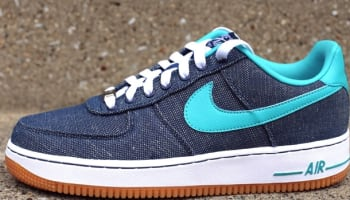 Nike Air Force 1 Low Canvas Squadron Blue/Sport Turquoise-White