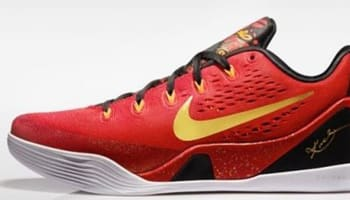 Nike Kobe IX Premium University Red/Metallic Gold-Black