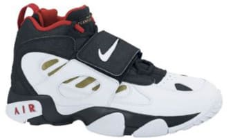 Nike Air Diamond Turf II Black/White-Metallic Gold-Varsity Red