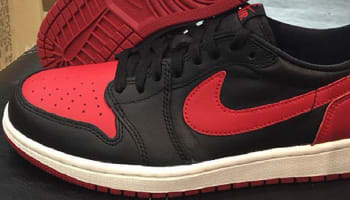 Air Jordan 1 Retro Low OG Black/Varsity Red-Sail