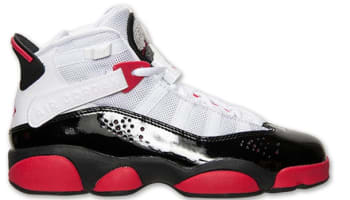 Jordan 6 Rings Girls White/Legion Red-Black-Wolf Grey