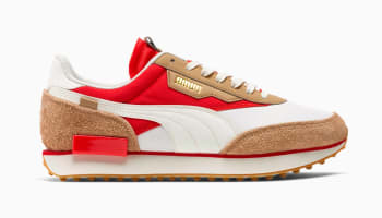 Puma Future Rider Game On Whisper White-Pebble-High Risk Red