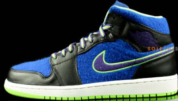 Air Jordan 1 Mid Wool Bel-Air Black/Court Purple-Game Royal-Flash Lime