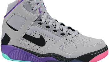 Nike Air Flight Lite High Wolf Grey/Black-Hyper Punch-Hype Jade-Pure Purple