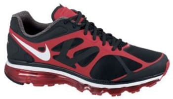 Nike Air Max+ 2012 Black/White-Action Red
