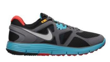 Nike LunarGlide+ 3 N7 Women's Black/Metallic Silver-Dark Turquoise-Grey