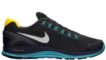 Nike Lunarglide+ 4 N7 Anthracite/White-Blackened Blue-Dark Turquoise