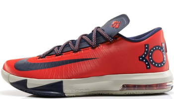 Nike KD VI Light Crimson/Obsidian-Light Beige Chalk-Light Lucid Green