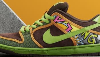 Nike Dunk Low DLS Premium SB Safari/Baroque Brown-Altitude Green