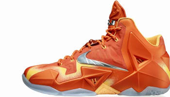 Nike LeBron 11 Urban Orange/Light Armory Blue-Laser Orange