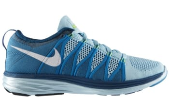 Nike Flyknit Lunar2 Women's Glacier Ice/White-Neon Turquoise-Green Abyss