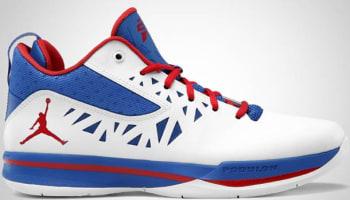 Jordan CP3.V White/Sport Red-Treasure Blue