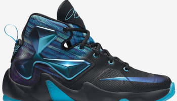 Nike LeBron 13 GS Black/White-Heritage Cyan-Bright Blue-Persian