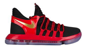 Nike KD 10 GS Black/Metallic Gold-University Red/-Bright Crimson