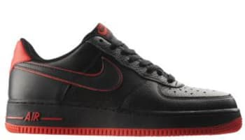Nike Air Force 1 Low Black/Black-Action Red
