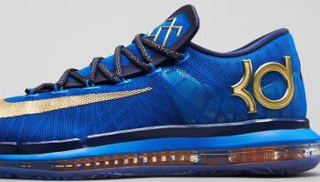 Nike KD VI Elite Premium Photo Blue/Metallic Gold-Midnight Navy