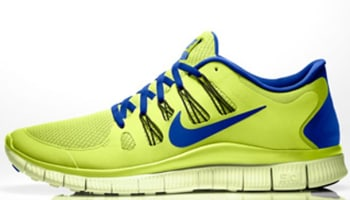 Nike Free 5.0+ Volt/Hyper Blue-Black-Volt