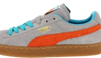 Puma Suede Classic+ Gray/Tiger Lilly-Blue Bird