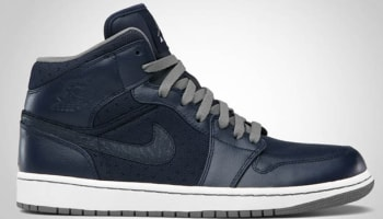 Air Jordan 1 Phat Mid Obsidian/Cool Grey-White