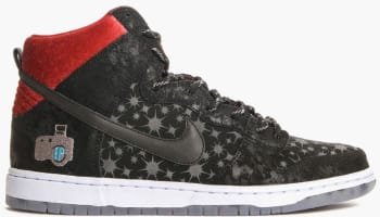 Nike Dunk High Premium SB Black/Black-Valiant Red