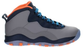 Air Jordan 10 Retro Wolf Grey/Dark Powder Blue-New Slate-Atomic Orange