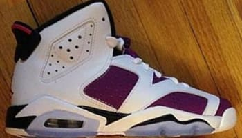 Air Jordan 6 Retro Girls White/Vivid Pink-Bright Grape-Black