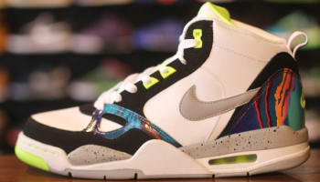 Nike Flight '13 Mid White/Wolf Grey-Volt-Black