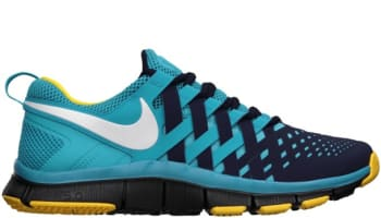 7ff5770e51a37 Nike Free Trainer 5.0 N7 Blackened Blue White-Dark Turquoise-Varsity Maize