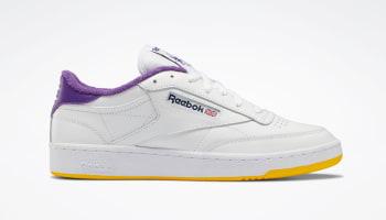 Eric Emanuel x Reebok Club C White/Regal Purple/Retro Yellow