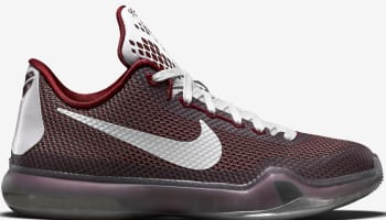 Nike Kobe X GS Team Red/Cool Grey-White-Metallic Cool Grey