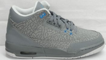 Girls Air Jordan 3 Retro GS Flip Cool Grey