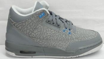 Girls Air Jordan 3 Retro GS Flip Cool Grey