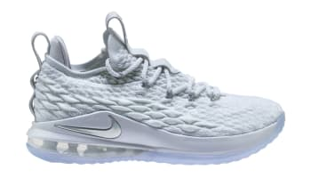 Nike LeBron 15 Low White/Metallic Silver-White