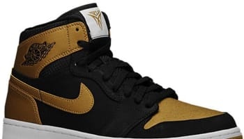 Air Jordan 1 Retro High Black/Metallic Gold-White