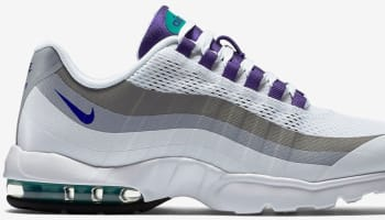 Nike Air Max '95 Ultra Women's White/Court Purple-Emerald Green-Cool Grey
