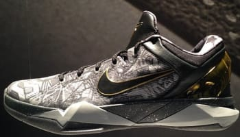 Nike Zoom Kobe VII System Prelude Cool Grey/Metallic Gold-Black
