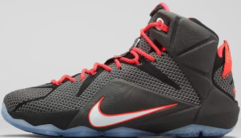 Nike LeBron 12 Black Bright Crimson-White d34604577