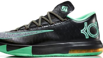 Nike KD VI Black/Metallic Clear-Light Lucid Green-Atomic Mango