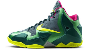 Nike LeBron 11 GS Deep Sea Green/Volt-Gamma Green-Mineral Teal-Rave Pink