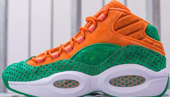 Reebok Question Mid Orange/Green-White