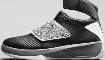 Air Jordan 20 Retro Black/White-Cool Grey