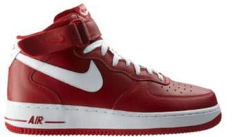 Nike Air Force 1 Mid Sport Red/White-Sport Red