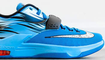 Nike KD VII Light Blue Lacquer/White-Clearwater-Total Orange
