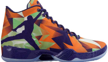 Air Jordan XX9 Bright Mandarin/Ink-White-Light Poison Green
