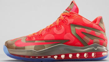 Nike LeBron 11 Low SE Metallic Zinc/Hyper Punch-Ice