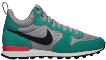 Nike Internationalist Mid Women's Metallic Silver/Black-Hyper Jade